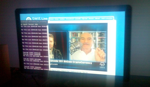 TWiT and the Ubuntu terminal on the TV via DLNA